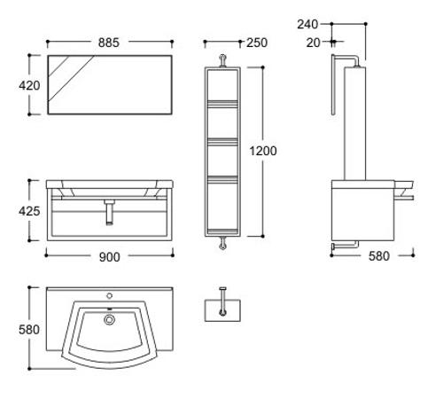 Kata Essential Luxury Categories Bathroom Furniture